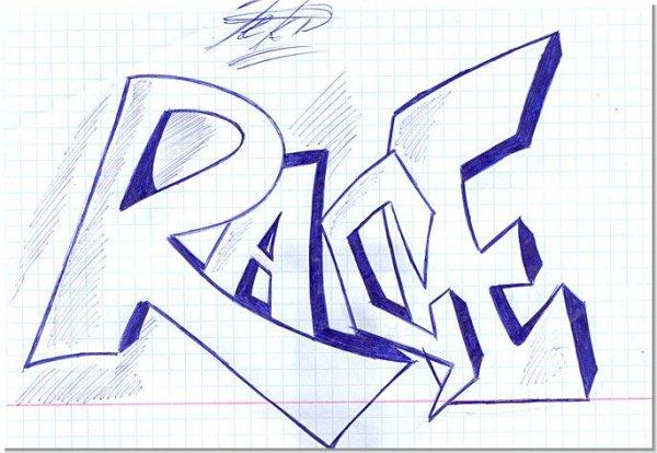 Нарисовать граффити поэтапно в картинках