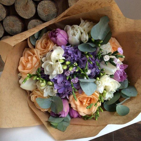 Стильные букеты цветы